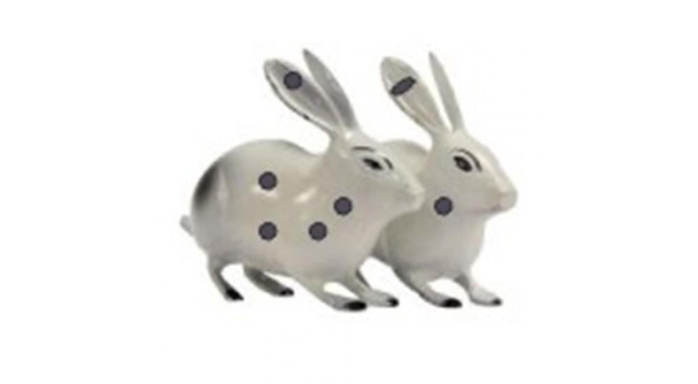 Brass Rabbit Pair